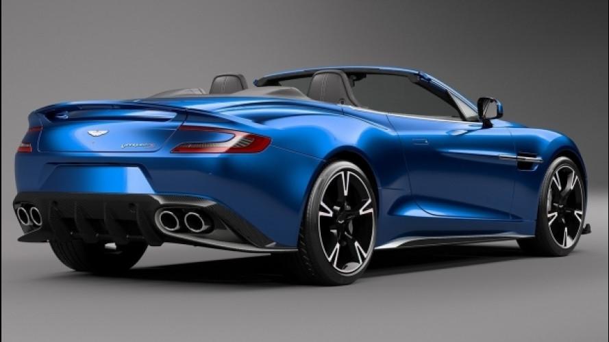 Aston Martin Vanquish S Volante, tetto giù potenza su