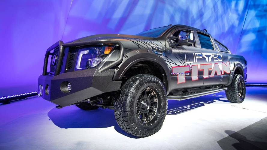 nissan titan gets a raise from factory 3 inch lift kit. Black Bedroom Furniture Sets. Home Design Ideas