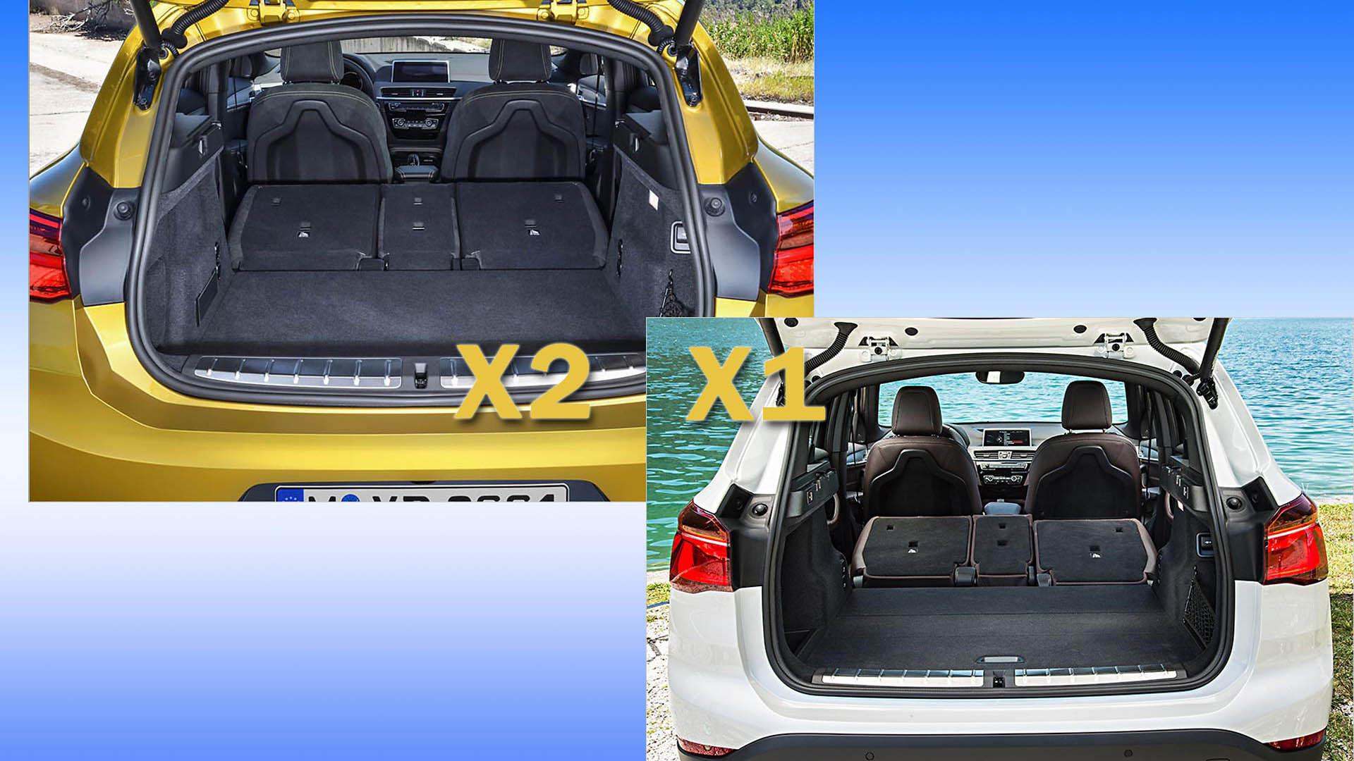 bmw x2 kofferraumvolumen