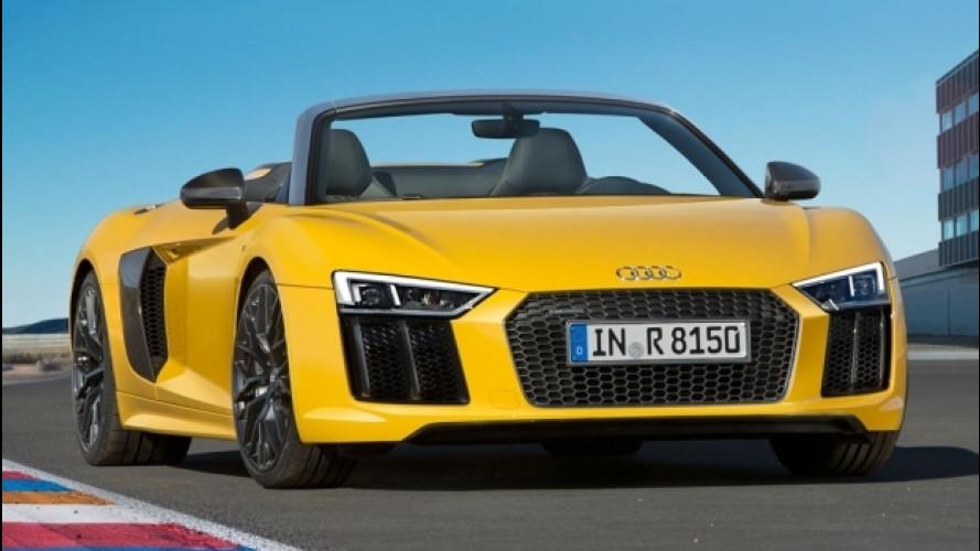 Audi R8, la Spyder V10 arriva in Italia a 184.400 euro