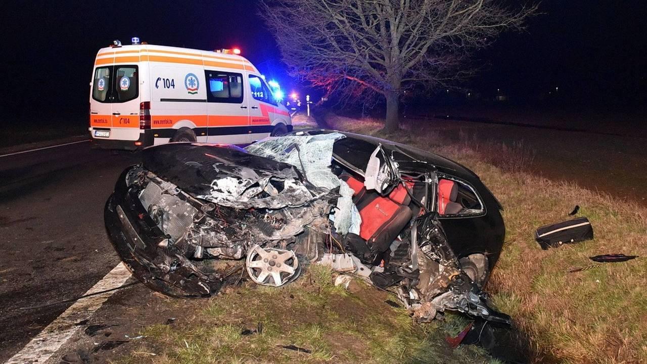 Mitsubishi baleset