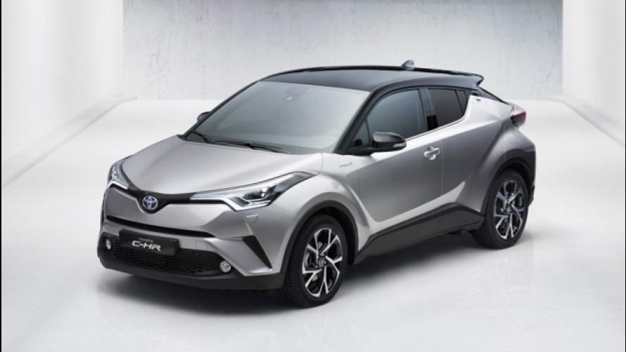 Toyota CH-R, prezzi promozionali da 21.500 euro