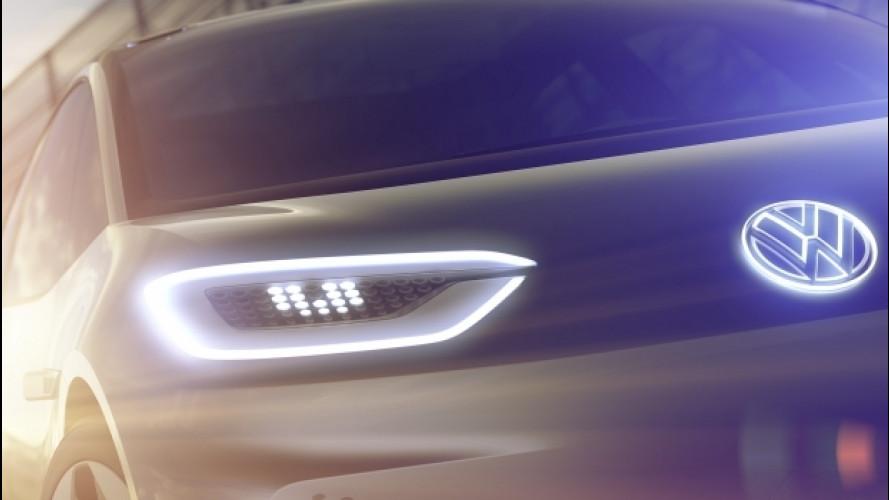 Volkswagen EV hatchback, le prime foto ufficiali