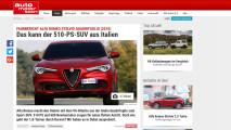 Alfa Romeo Stelvio Quadrifoglio, gli articoli della stampa estera