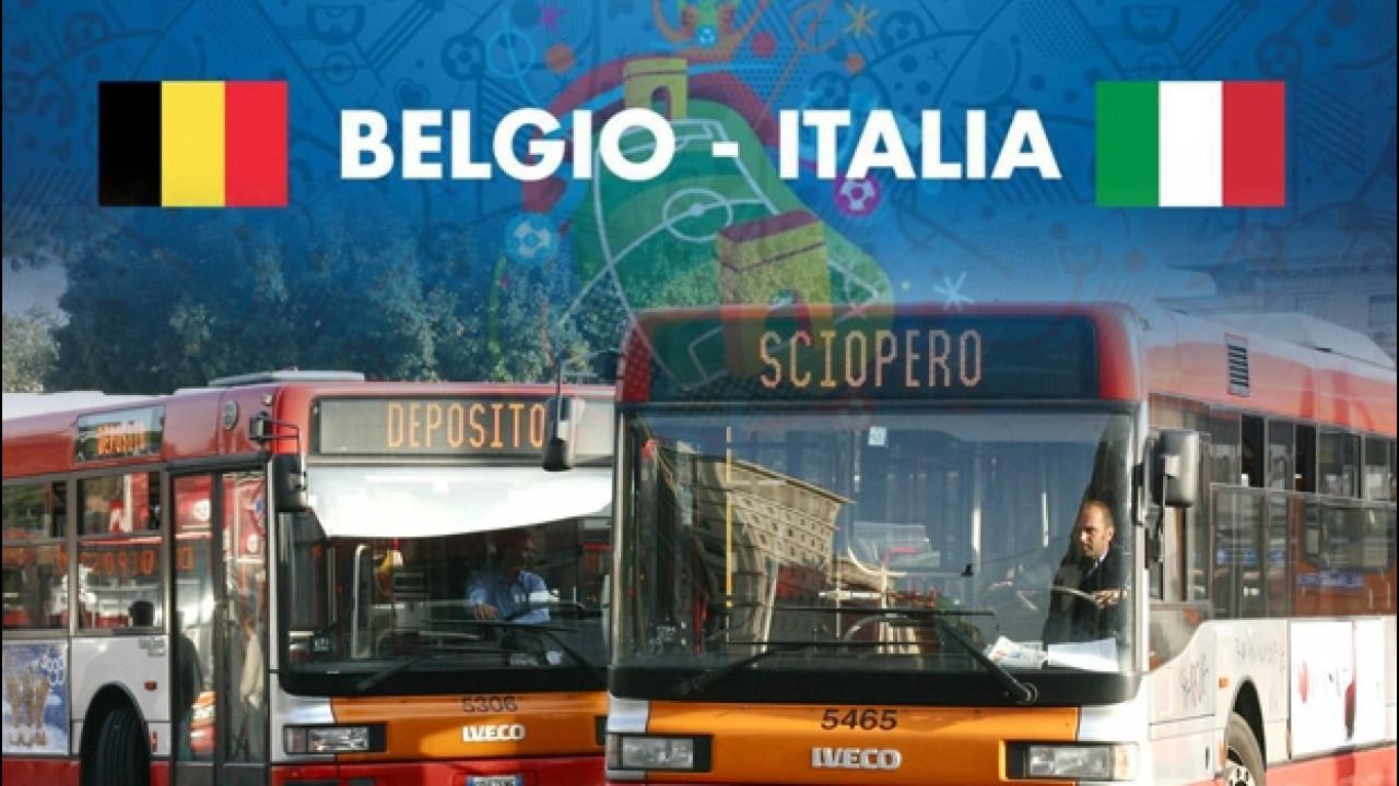 [Copertina] - Sciopero trasporti, Roma si ferma per la partita Belgio-Italia
