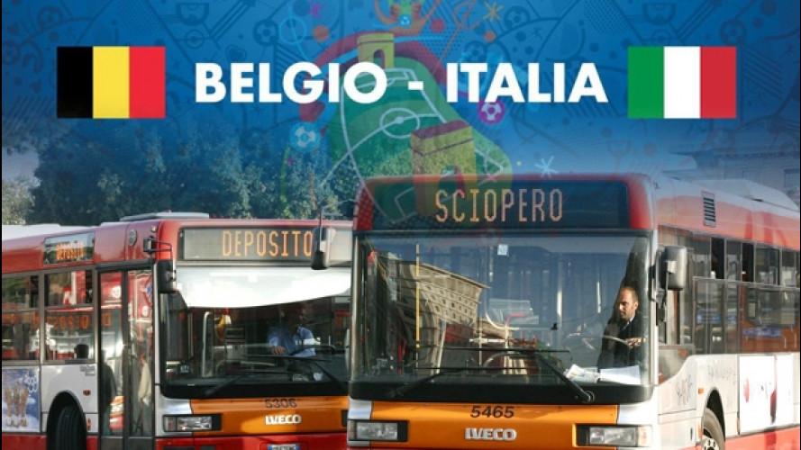 Sciopero trasporti, Roma si ferma per la partita Belgio-Italia