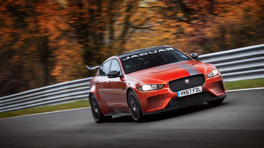 Hop inside the Jaguar XE Project 8 for a lap of the Nürburgring