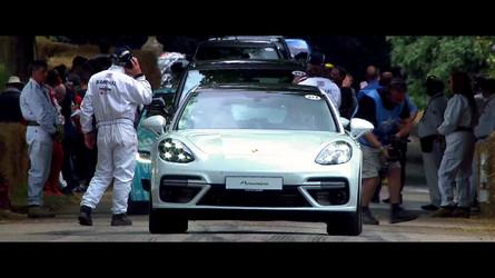 Porsche Panamera Sport Turismo Looks Sweet On The Goodwood Hill