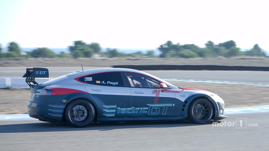Checking Out The Tesla Model 3 Electric GT Race Car
