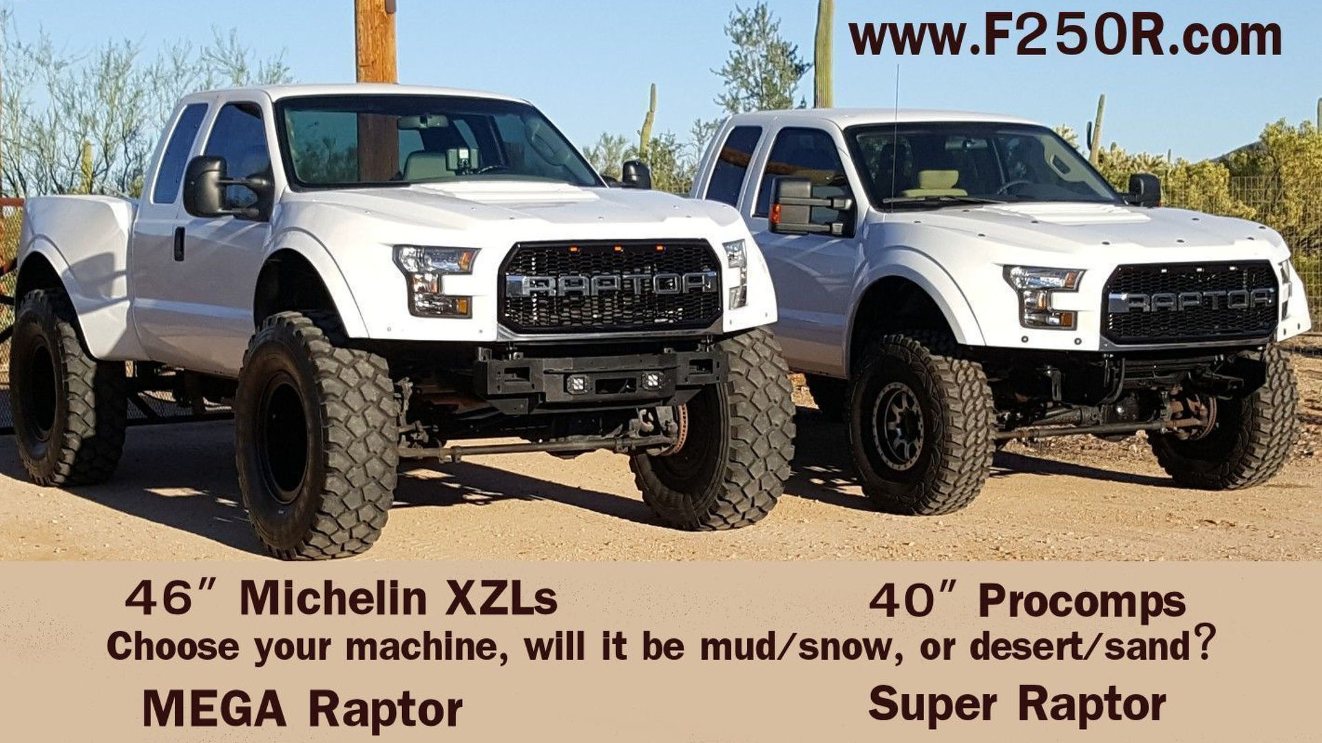 Ford F 250 Mega Raptor Has 46 Inch Tires Takes No Prisoners 2004 Lifted