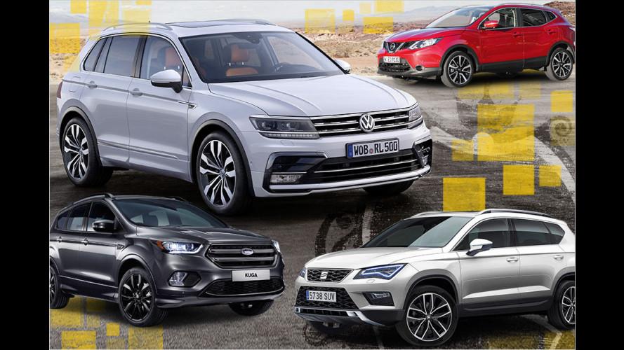 Der VW Tiguan und seine Konkurrenten (2016)