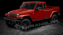 2019 Jeep Wrangler Pickup Rendering