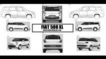 Vazou: Fiat 500 XL aparece novamente em imagens de patente na Europa