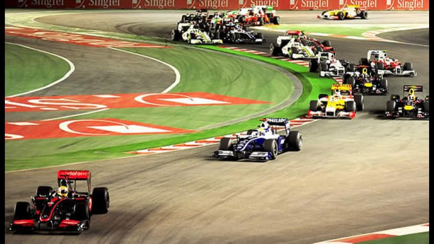 Fórmula 1: Hamilton vence o GP de Cingapura - Button chega em quinto e Barrichello em sexto