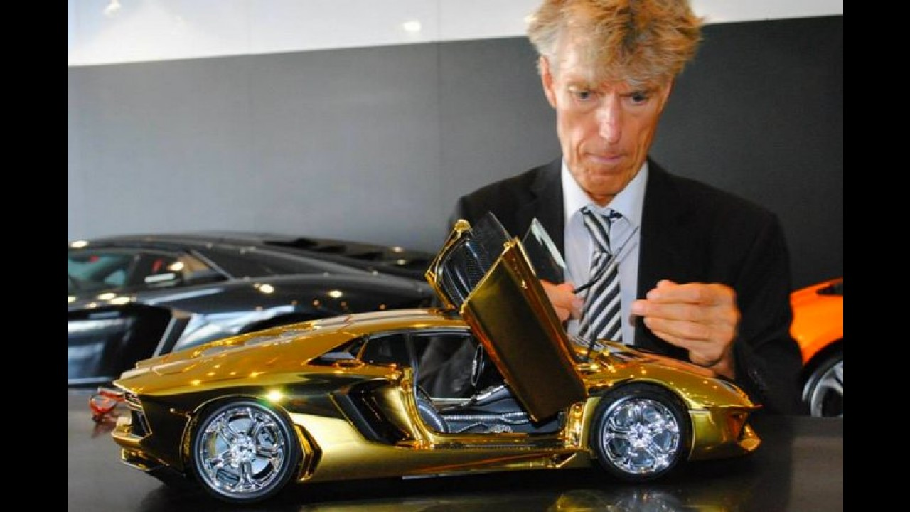 Miniatura de Lamborghini Aventador em ouro será a mais cara do mundo