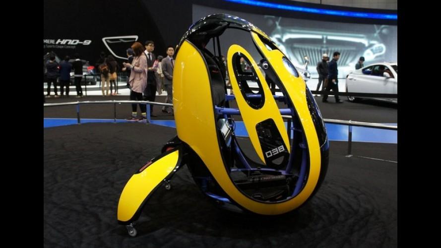 """Hyundai E4U: um """"ovo"""" para transporte individual a 30 km/h"""