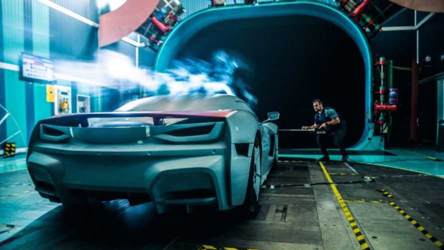 See Rimac Ready Automobili C_Two In Wind Tunnel Testing