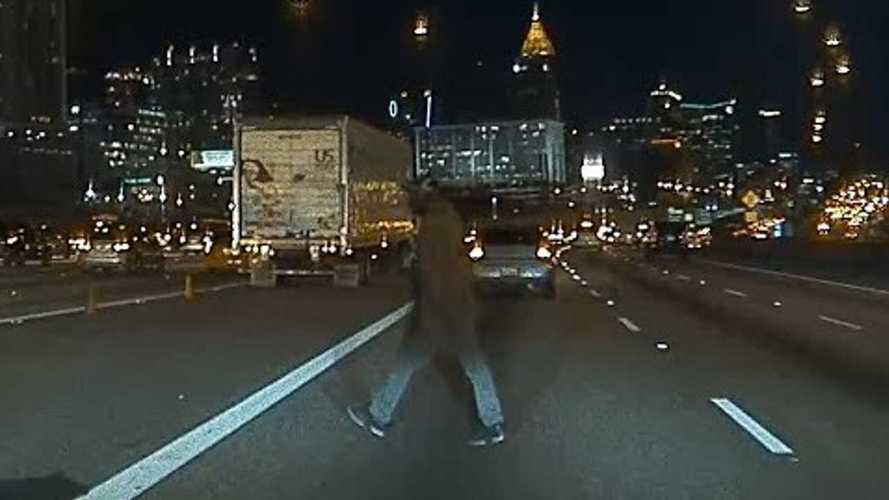 Watch Tesla Autopilot Stop For Pedestrian Walking Across The Highway