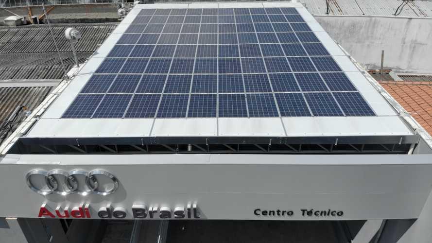 Audi Centro Técnico - Painéis solares
