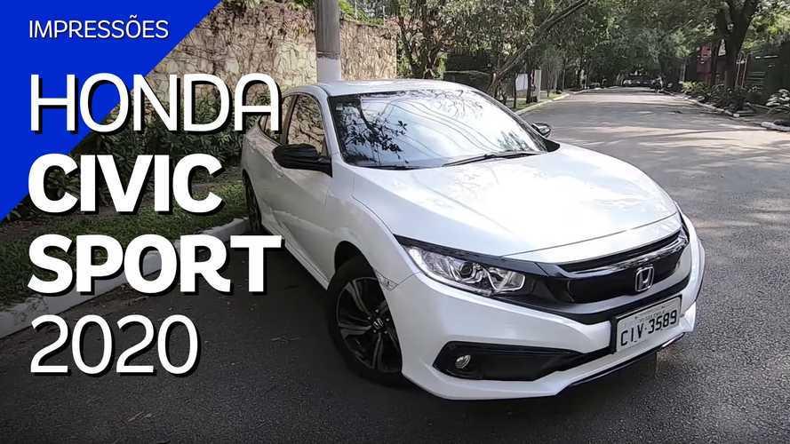 Vídeo: Honda Civic Sport 2020 tem o necessário por R$ 105.500?