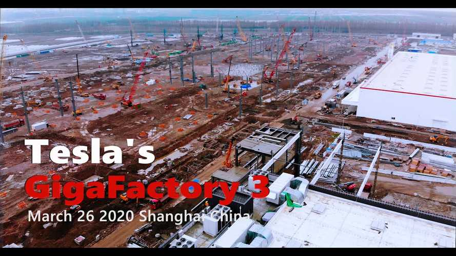 Tesla Gigafactory 3 Construction Progress March 26, 2020: Video