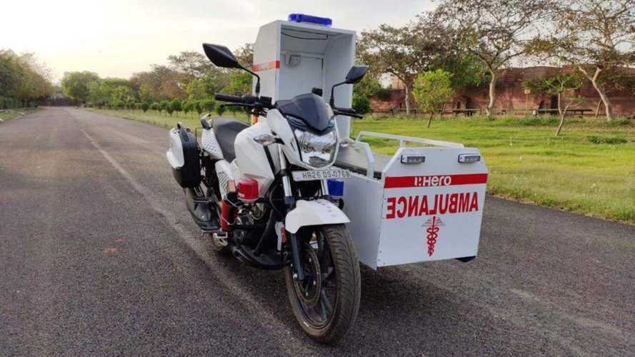 Coronavirus: in India Hero dona 60 moto-ambulanza