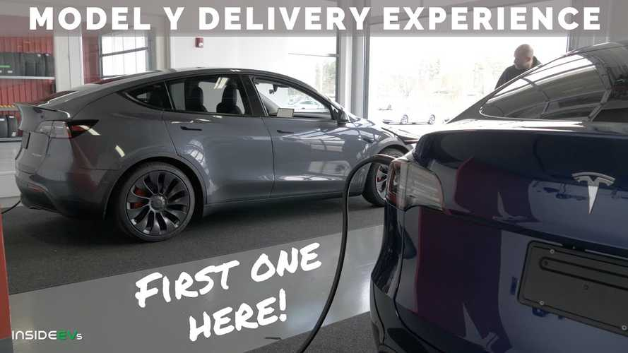 InsideEVs Presents On-The-Scene Tesla Model Y Delivery Video