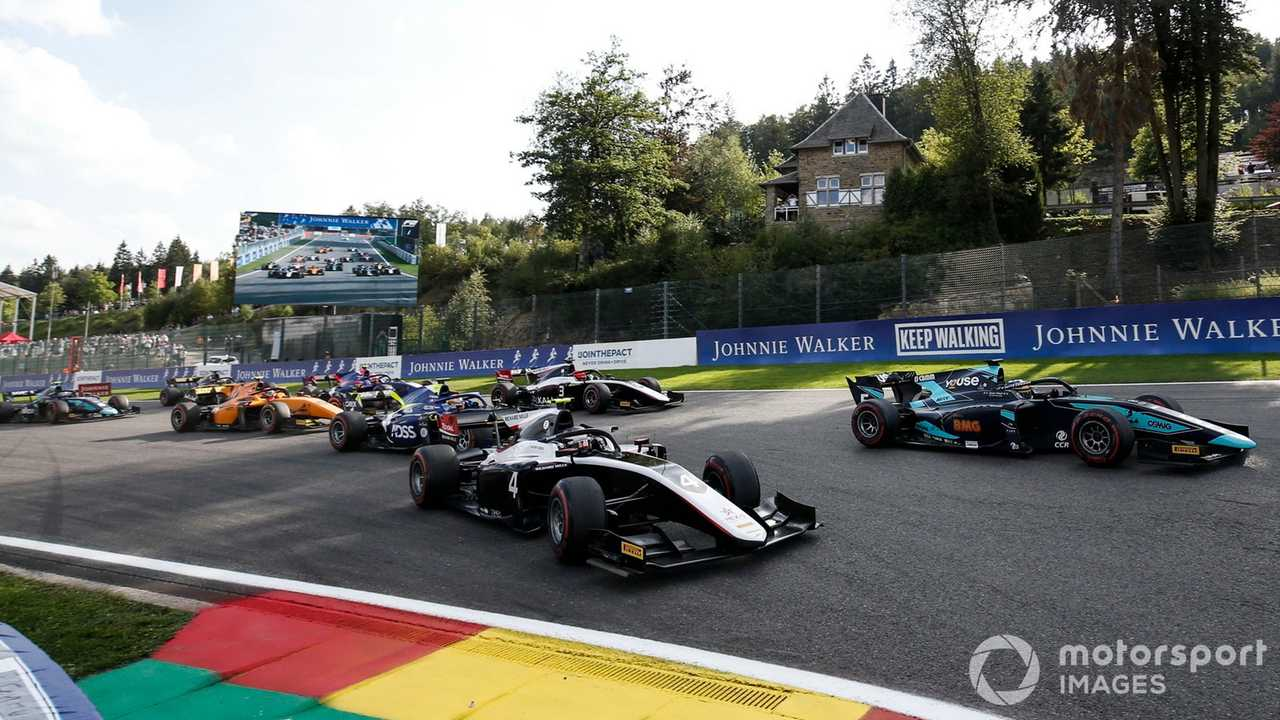 Formula 2 start race at Spa-Francorchamps 2019