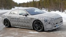 Jaguar XJ Electric saloon spy shots