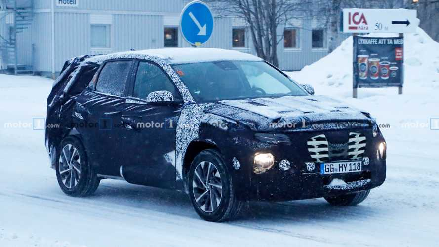 2021 Hyundai Tucson spied all covered up in the snow