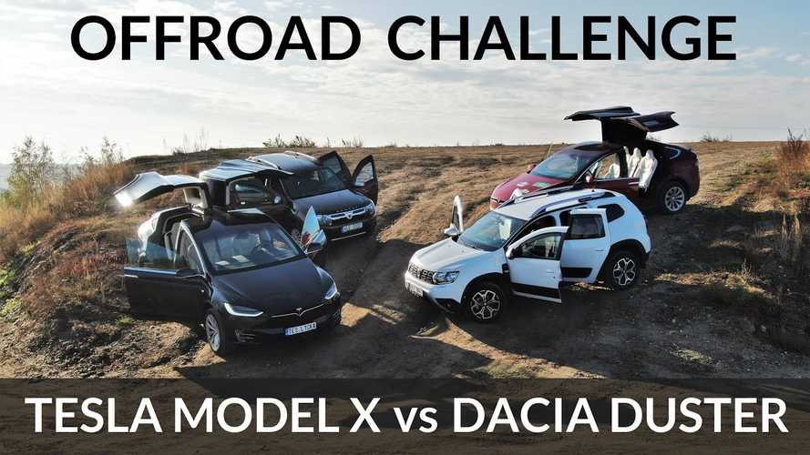 Watch Tesla Model X Challenge A Dacia Duster In Off-Road Contest