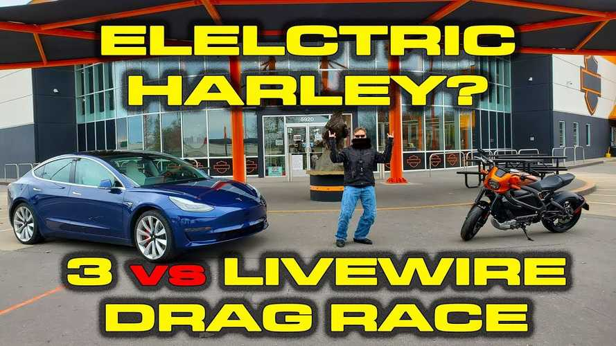 Watch Tesla Model 3 Performance Get Beat Twice By Harley-Davidson Livewire