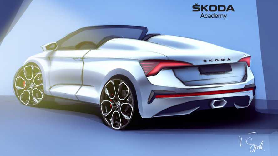 Skoda Scala Spider Teased Showing Sleek Shape Ahead Of June Reveal