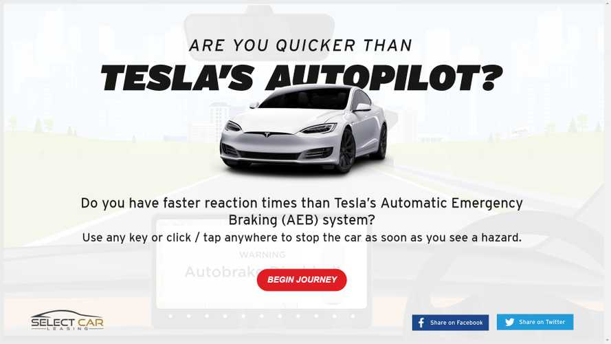 While We Try To Beat COVID-19, See If You Are Faster Than Tesla AEB