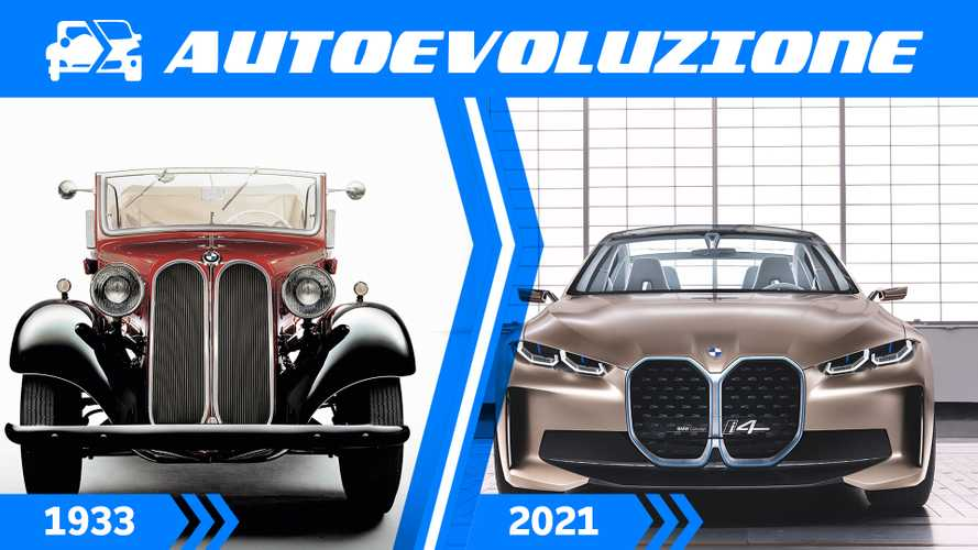 Check out the BMW kidney grille's evolution over 87 years
