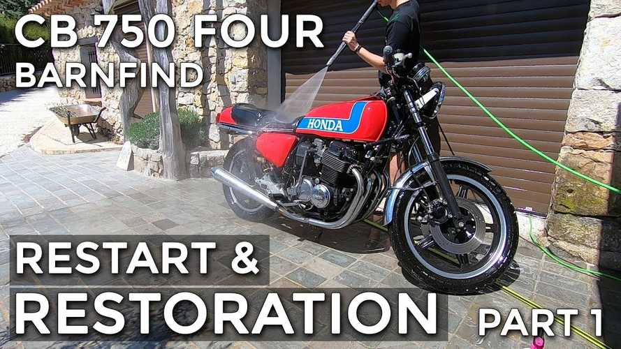 This Honda CB750 Four Restoration Video Is Super Relaxing
