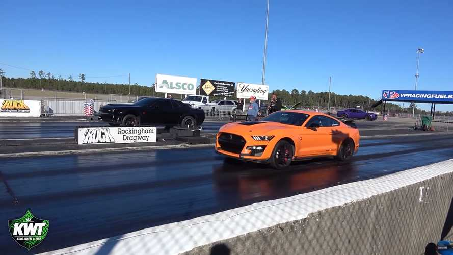 See Modded Shelby GT500 Race Stock Dodge Demon At The Drag Strip