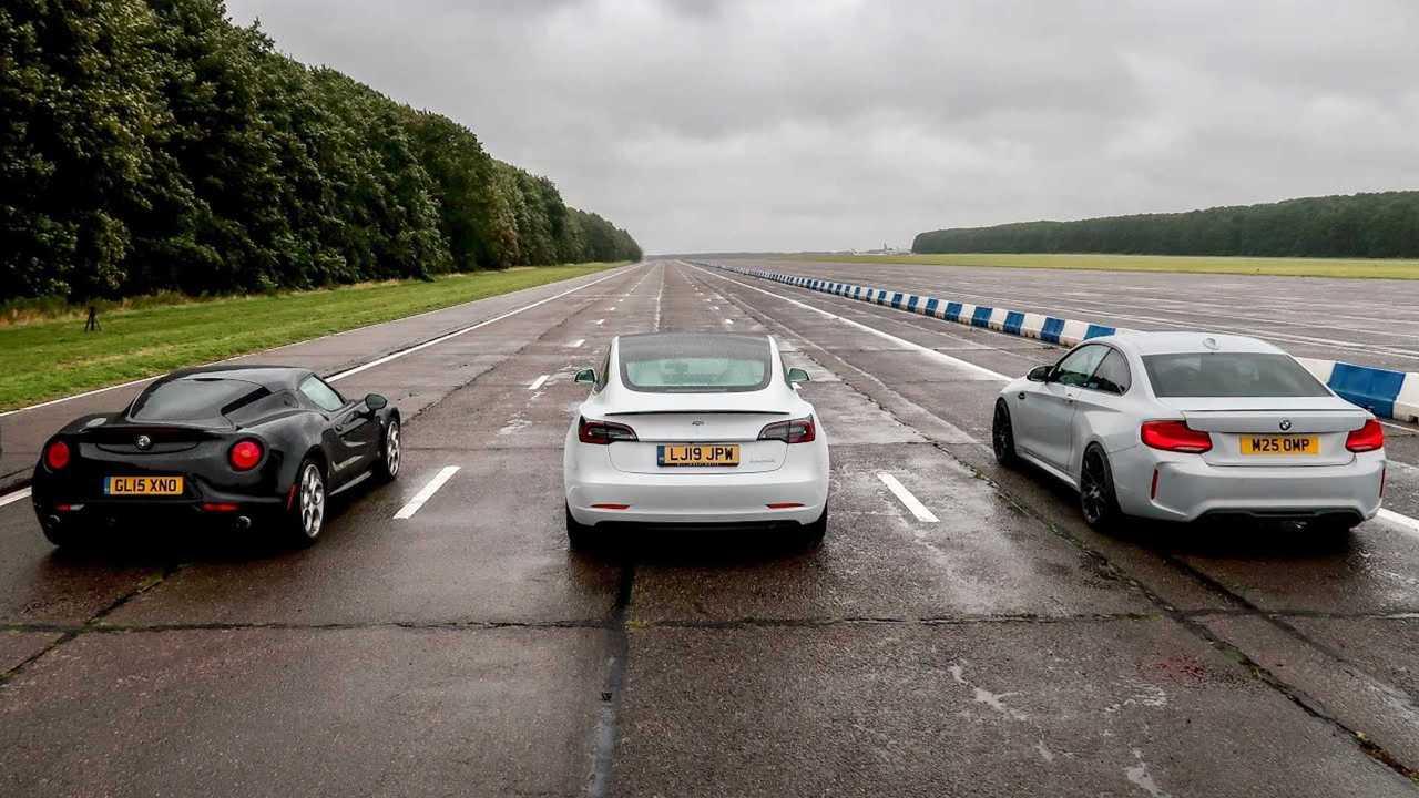 Watch Tesla Model 3 Performance Blow Away BMW M2, Alfa ...