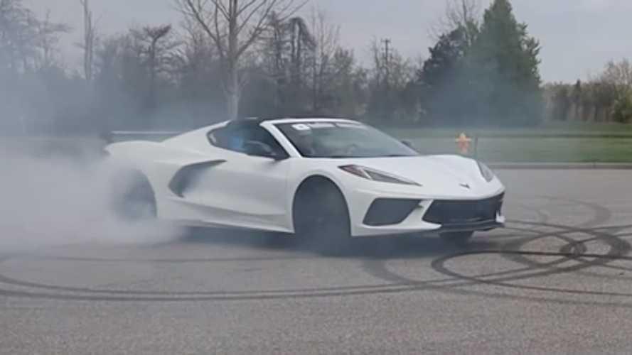 Watch This 2020 Chevrolet Corvette C8 Roast Its Rear Tires