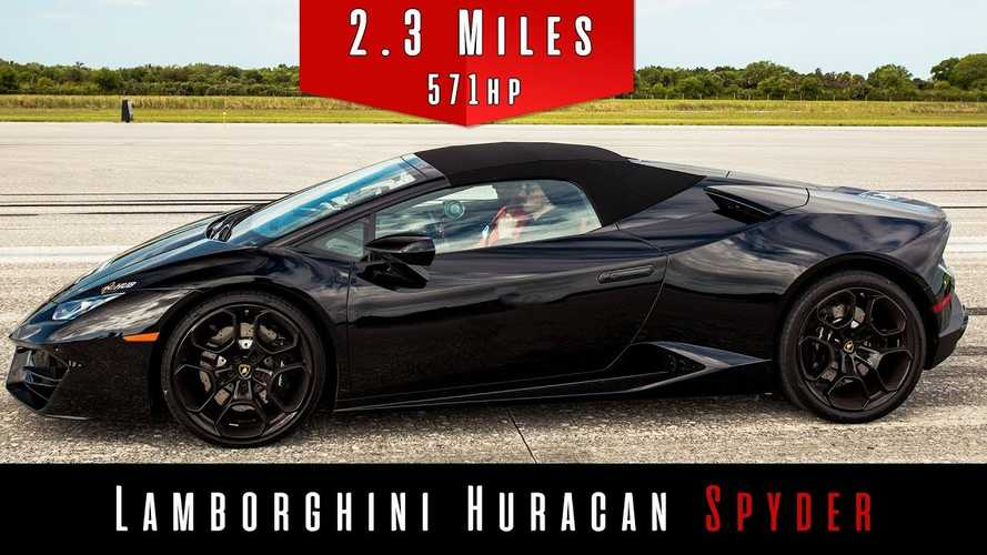 Watch And Listen As Lamborghini Huracán Spyder Reaches Top Speed