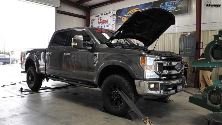 See Ford's 7.3-Liter Godzilla V8 Strut Its Pushrod Power On Dyno