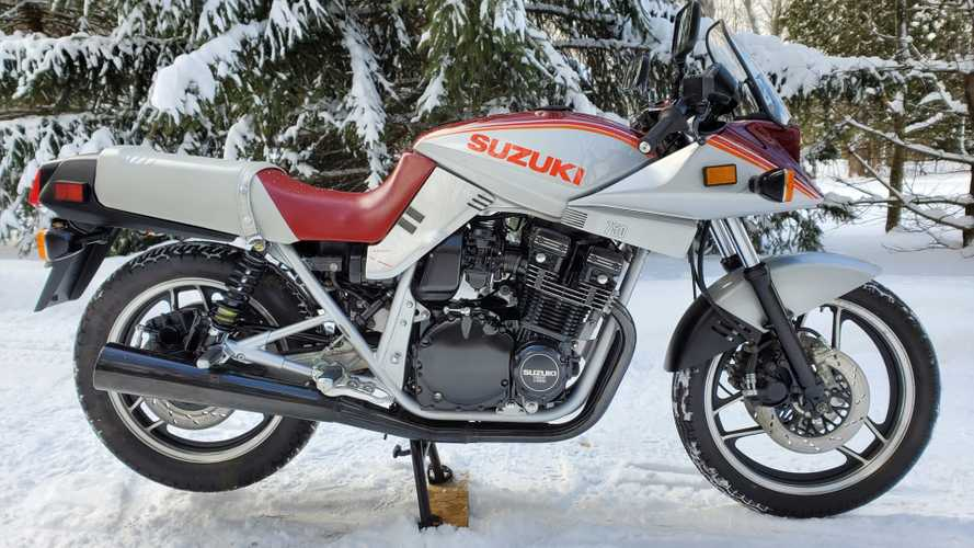 This Kickin' Rad Suzuki Katana 750 Is A Perfect 80s Time Capsule