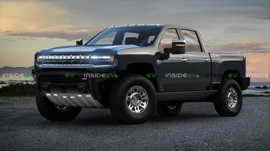 Hummer Electric Pickup Truck Rendered Into View With GMC Styling Cues