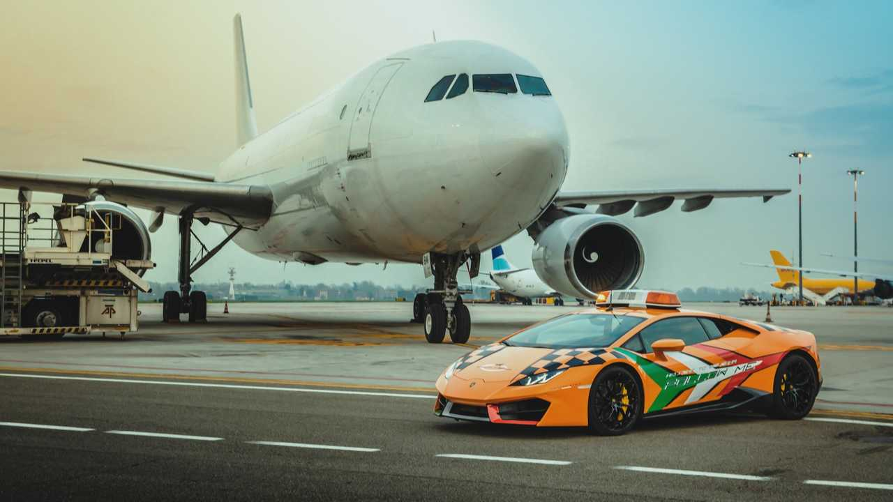 Lamborghini Huracán, aeropuerto de Bolonia