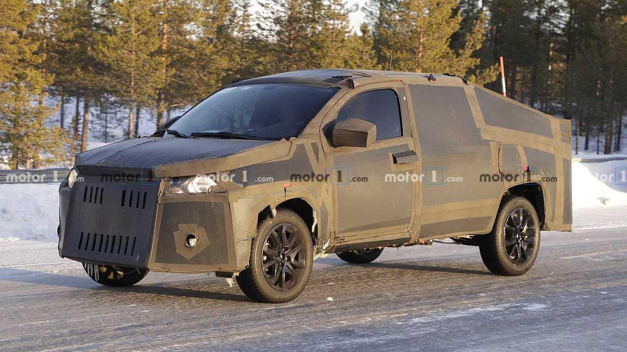 Fiat Strada 2021 - Novos flagras na neve
