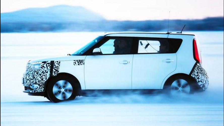 Kia Soul EV, un'elettrica al gelo