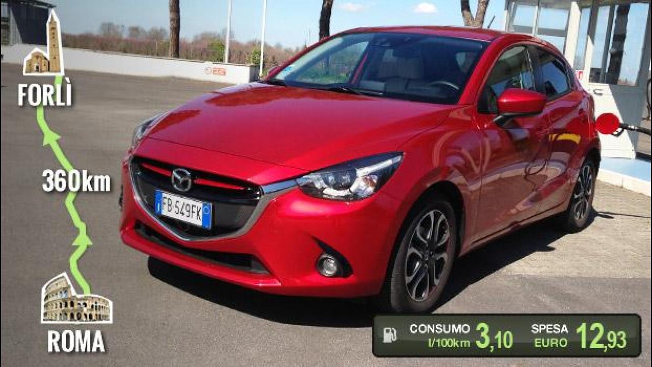 [Copertina] - Mazda2 1.5 D, la prova dei consumi reali [VIDEO]