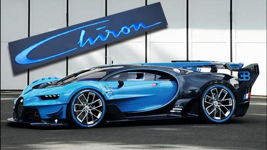 Bugatti Chiron, il nome della nuova hypercar