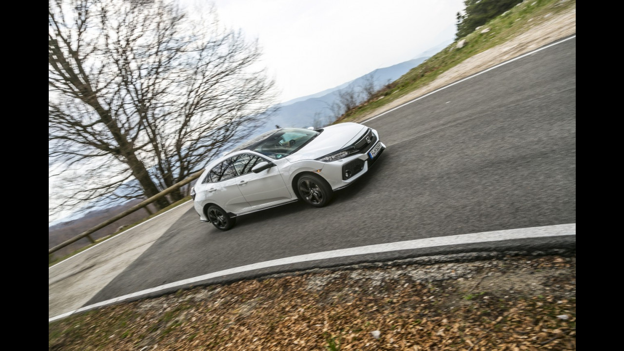 Honda Civic, la prova speciale