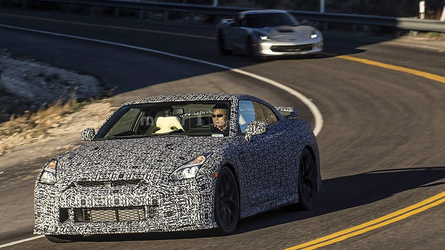 2017 Nissan GT-R spied in California